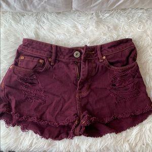 pacsun maroon shorts